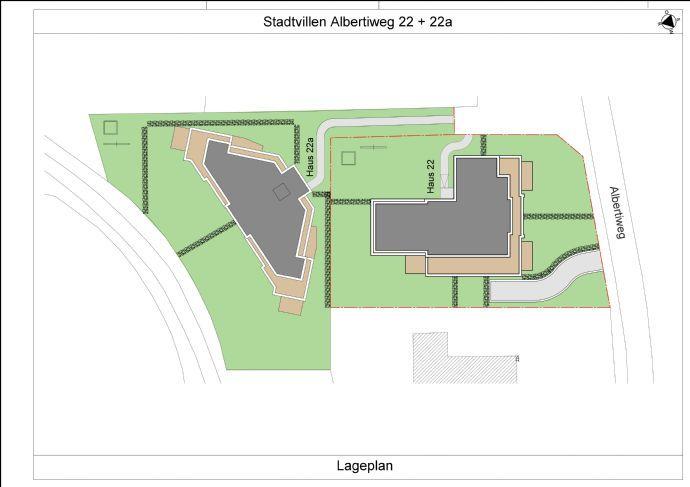 Albertiweg 22 + 22 a Lageplan