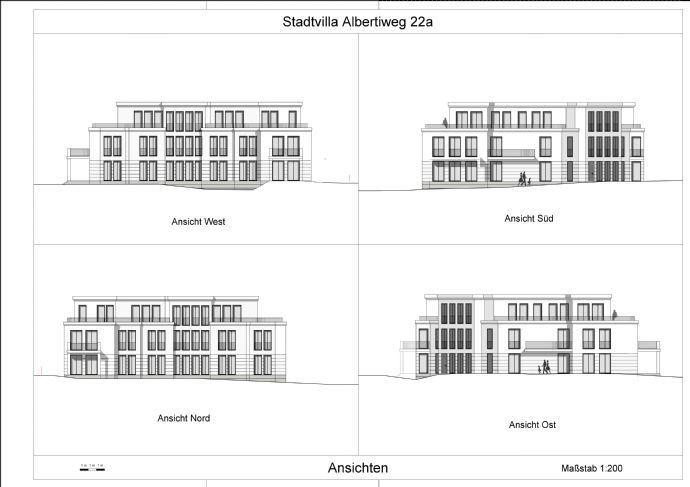 Albertiweg 22 a Ansichten Stadtvilla