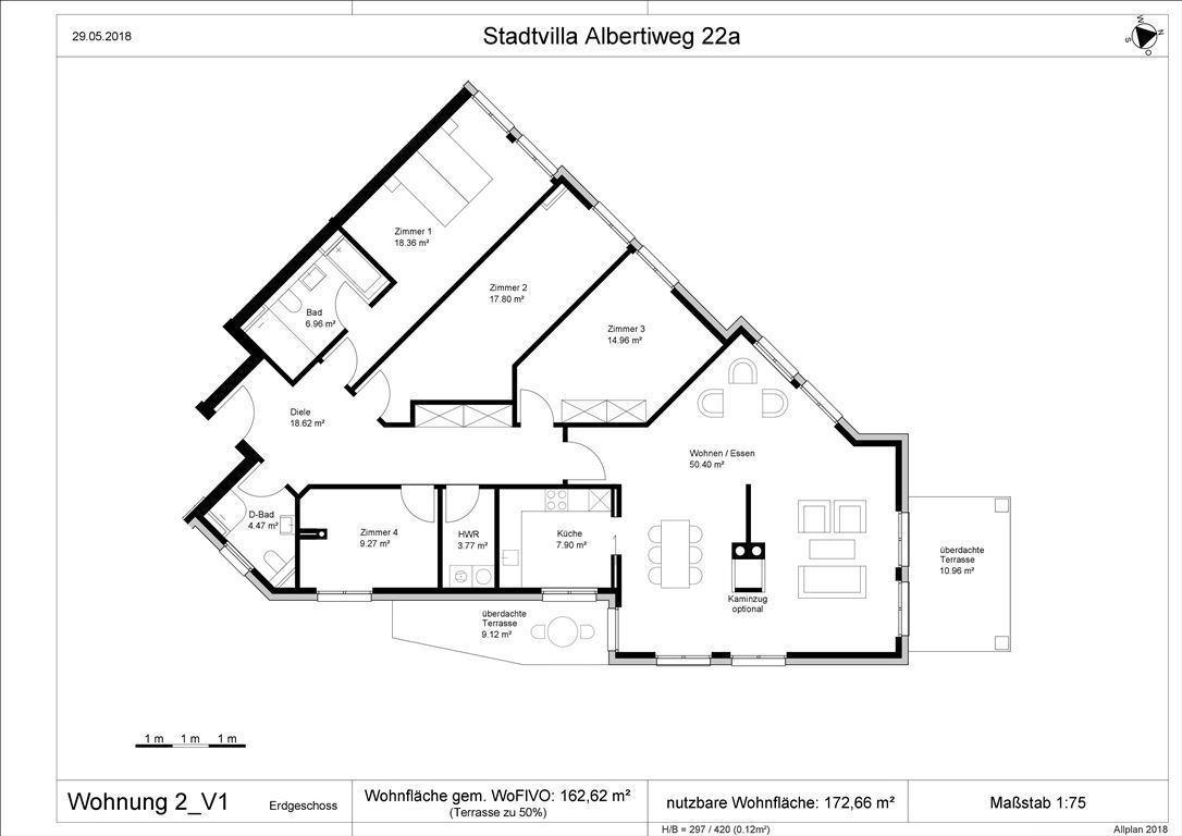 Wohnung 2 - Var. 1, 3-5 Zi. möglich