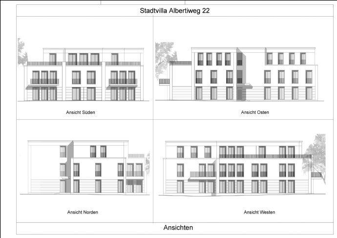 Ansichten Stadtvilla Albertiweg 22