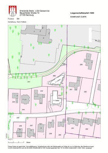 Flurkarte mit Gebäuden