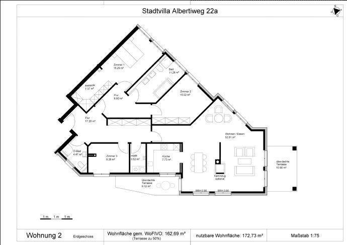 Wohnung 2 Grundriss 3 - 5 Zi