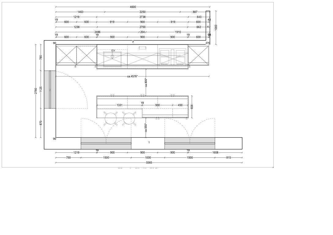 Beispiel Küchenplan